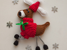 Crochet pattern for Christmas Reindeer Sweater Ornament