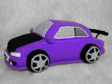 Crochet pattern for Violet Toyota Corolla. Toys for boys