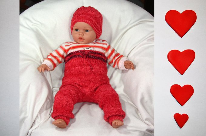 Babyhose und Mütze 3-12 Monate - Strickanleitung