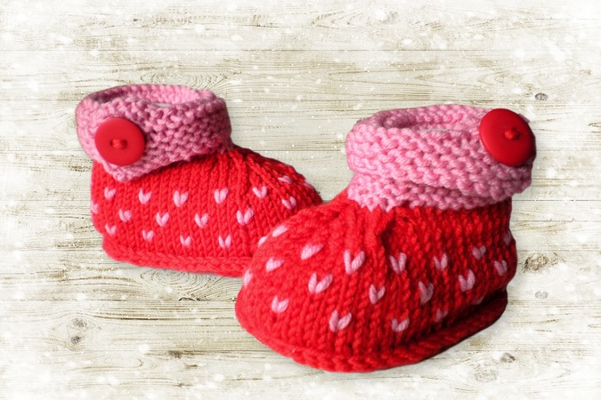 Baby Shoes Knitting Pattern