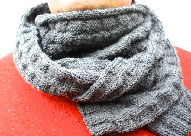 Schal für Männer stricken // Männer-Loop