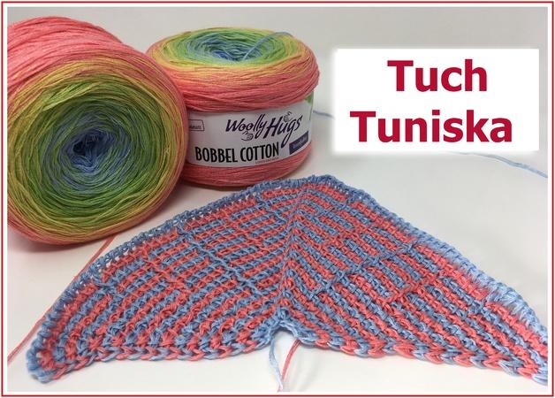 Tuch Häkeln Tunesisches Häkeln Mit Bobbel