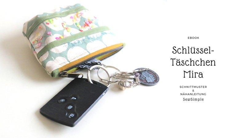 eBook: Schlüsseltäschchen Mira, Schnittmuster und Nähanleitung