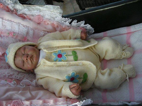Strickanleitung Babygarnitur Steffen Gr 56 Für Baby
