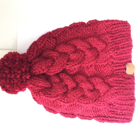 Knit Plaited Cable Hat Pattern PDF, 2 sizes, Regular and Large