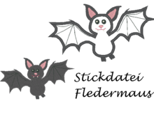 Fledermaus Stickdatei