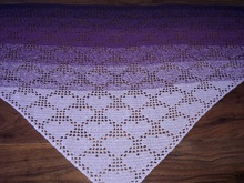 "Triangular Shawl ""Hearts"""