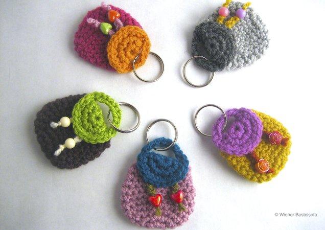 Täschchen Rucksack Für Einkaufschip Schlüsselanhänger Taschenbaumler