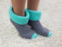 Yoga Socken Häkeln Im Jacuqardmuster Mit Minisocke