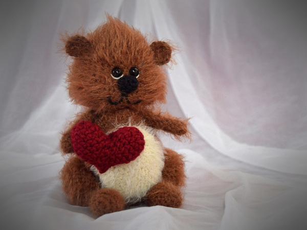 teddy häkeln  herz  valentinstag
