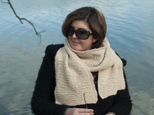 "Textured scarf knitting pattern ""Piz"""