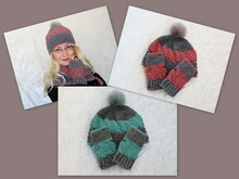 Crochet pattern hat and wrist warmers Snuggly