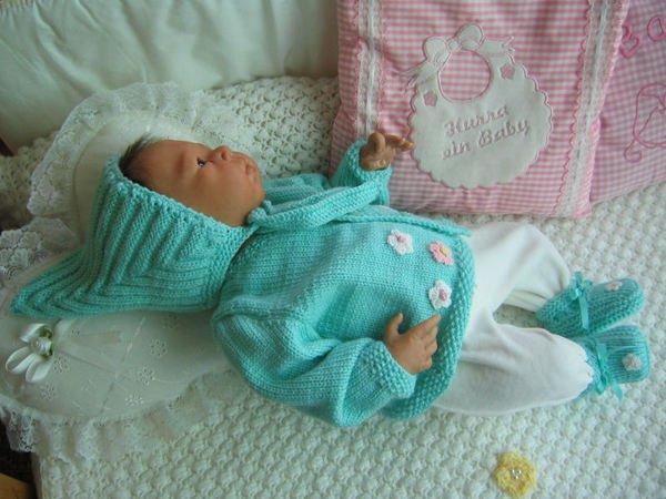 Strickanleitung Babygarnitur Bibi Gr 50 Für Baby Und Reborn