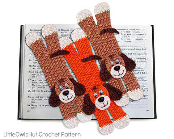 160 Crochet Pattern - Dog bookmark or decor - Amigurumi PDF file by Zabelina CP