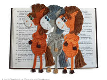 025 Crochet Pattern - Horse Ge-GE-Bookmark or decor - Amigurumi PDF file by Zabelina CP