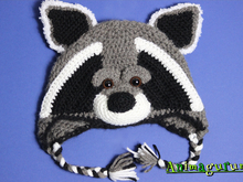 Raccoon Animalhat Crochet Pattern in 4 sizes