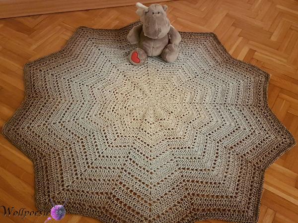 Decke Häkeln Mit Zacken Sternförmig