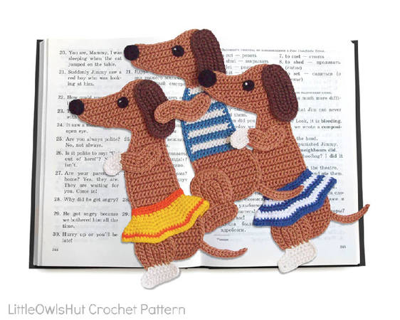 167 Crochet Pattern - Circus dog bookmark or decor - Amigurumi PDF file by Zabelina CP