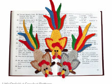 144 Crochet Pattern - Rooster on a perch bookmark or decor- Amigurumi PDF file by Zabelina CP