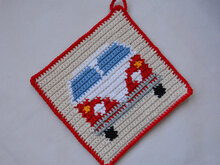 Van Potholder Crochet Pattern - for beginners