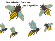 Stickdatei Biene Bee