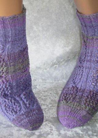 Sockenmuster Netzzopf
