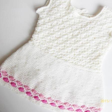 Strickanleitung * Babykleid/Kinderkleid & Mütze \