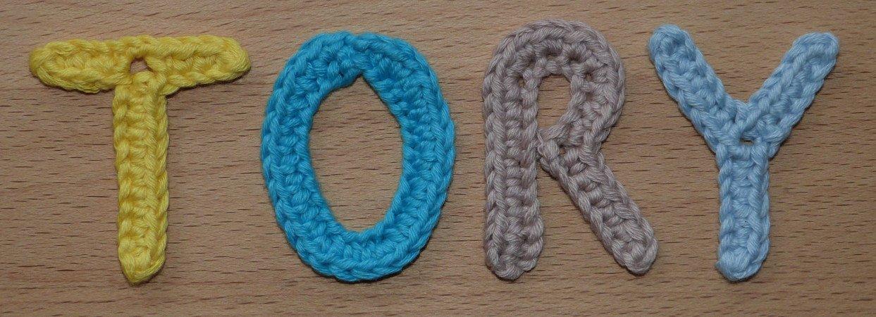Häkelanleitung für kleine Buchstaben, einfach und schnell gehäkelt
