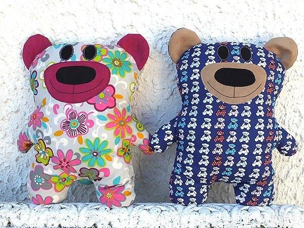 Teddy Bär Kuscheltier Kissen Bärbel Freebie Schnittmuster Teddybär ...