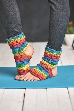 Gehäkelte Yoga Socken