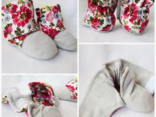 Fleece warm baby booties,crib shoes for baby girl and boy. Size: 0-24 months.