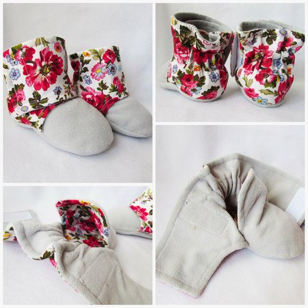 Fleece Warm Baby Booties Crib Shoes For Baby Girl And Boy Size 0