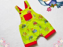 Romper for baby and toddler, for girl,boy. Sizes: 3/6, 6/9, 9/12, 1T, 1,5T, 2T, 3T to fit 3 months to 3 years.