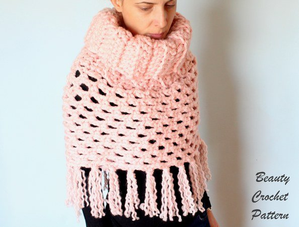 Easy Chunky Crochet Poncho Pattern