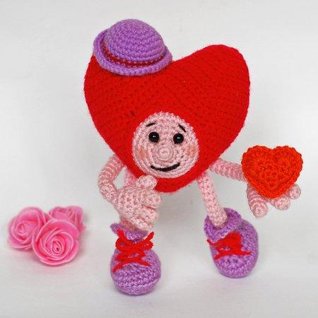 Crochet pattern Valentine's day bear, bear whit heart PDF ternura ... | 450x450