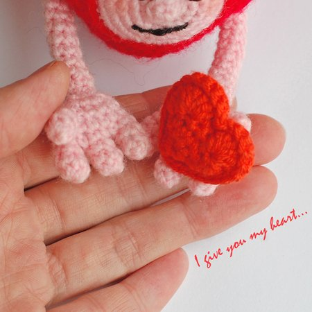 Crochet Valentine Heart Bunny Toy Amigurumi Free Pattern | Crochet ... | 450x450