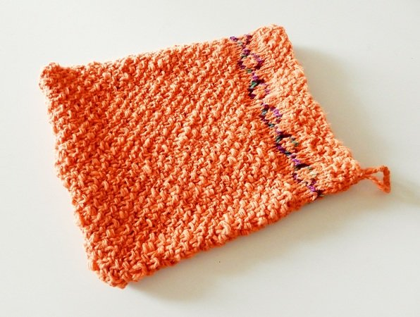 "Washcloth knitting pattern ""Fairy Ring"""