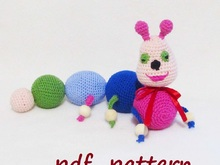 Crochet Caterpillar,soft toy for children,baby rattle Caterpillar.