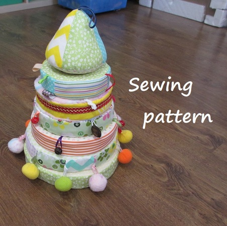 Pyramid for baby,soft pyramid toy for children, PDF sewing pattern.