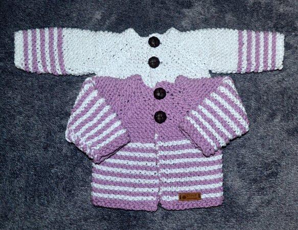 Strickanleitung Baby Jacke In 3 Größen Gr 50 86