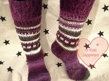 Arctic Sky - crocheted socks