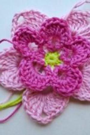 Häkelanleitung * Häkelblüte \