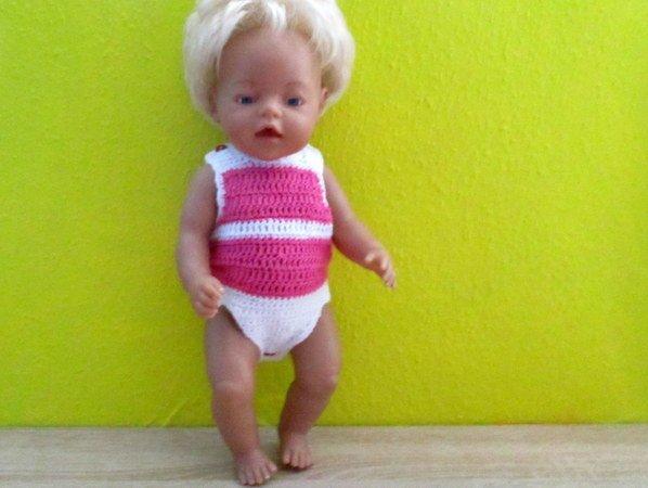 Häkelanleitung- Body für Babypuppe 43 cm
