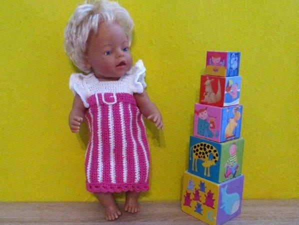 Häkelanleitung- Sommerkleid für Babypuppe 43 cm
