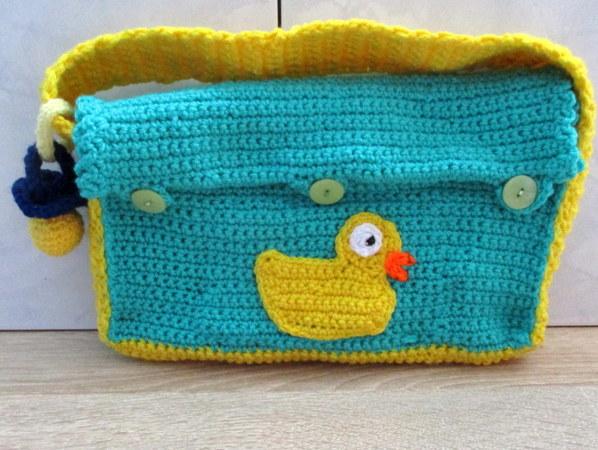 Häkelanleitung- Wickeltasche für Babypuppe 43 cm