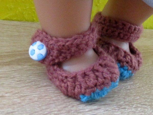Häkelanleitung- Schuhe für Babypuppe 43 cm