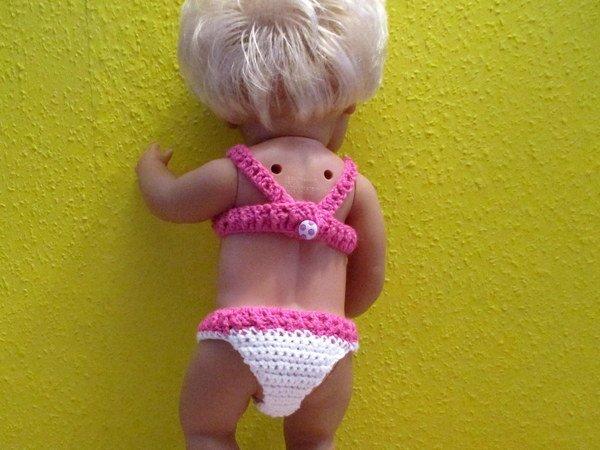 Häkelanleitung- Bikini für Babypuppe 43 cm