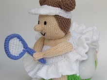 Tennis Player Tea Cosy