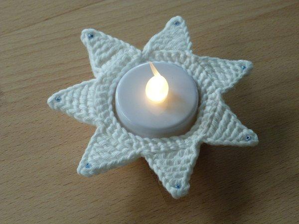 Häkelanleitung Für Einen Teelichthalter Stern