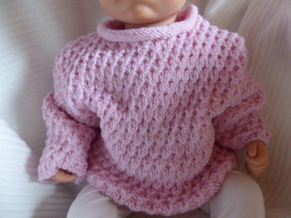 Strickanleitung Babypullover 6 Monate / 9 Monate